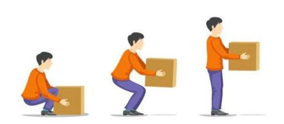 Higiene postural correcta para transporte de cargas