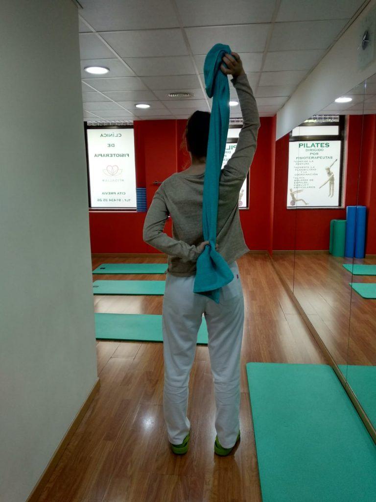 Ejercicio de rotación de hombro