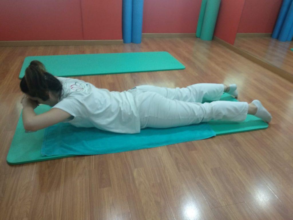 Ejercicio de preparación de espalda