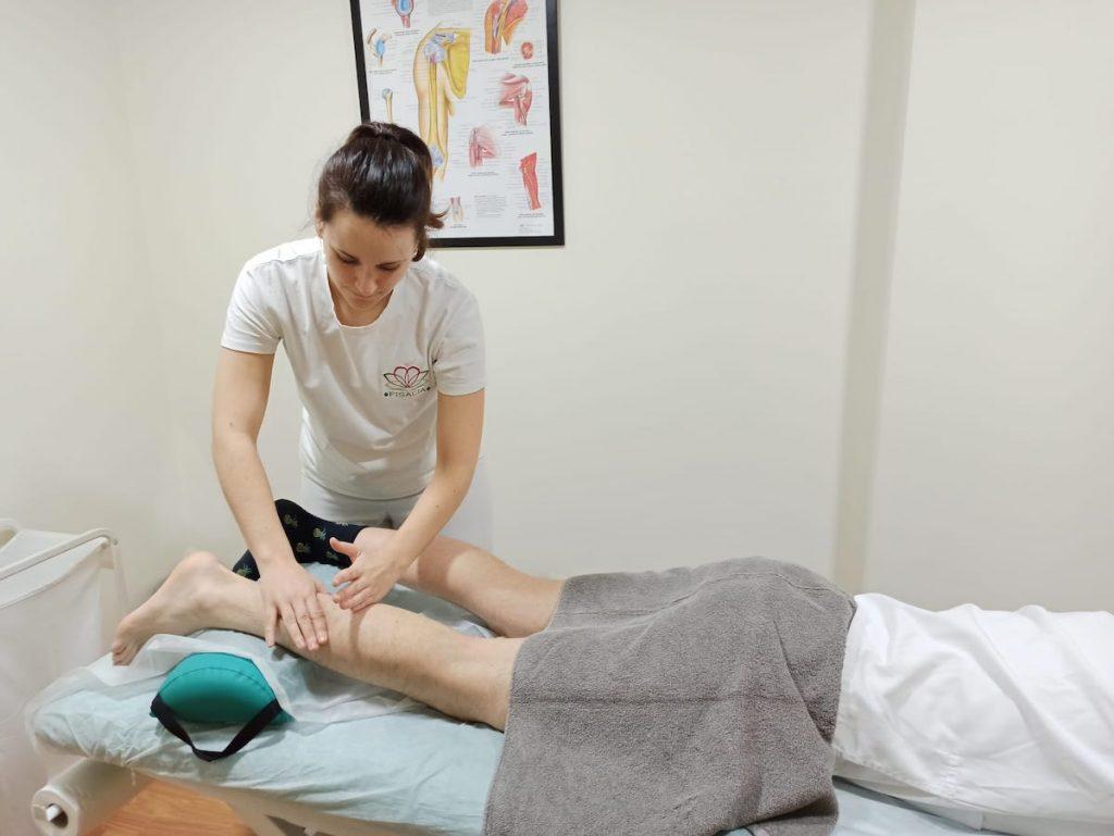 Masaje drenante aplicado al desgarro muscular