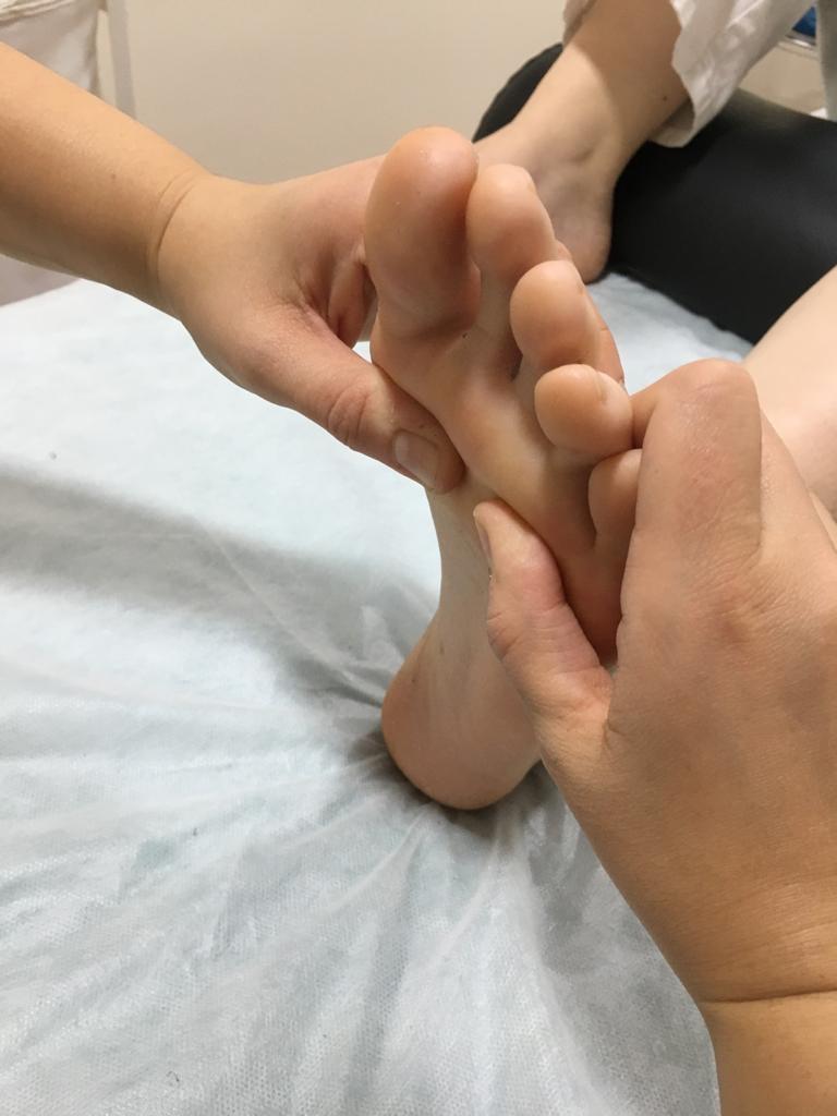 Estiramiento pasivo del pie