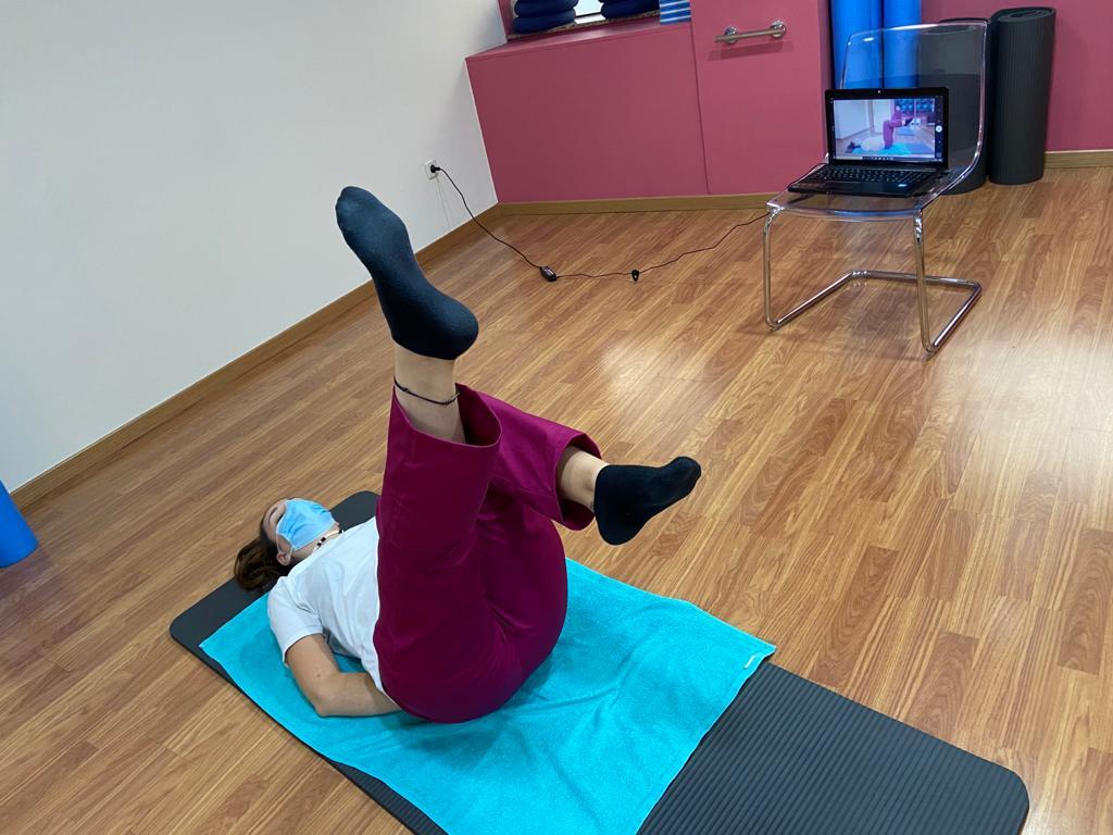 Clase de pilates online desde casa